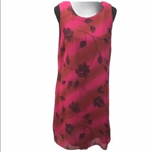 Jaclyn Smith Floral Dress, Pink, Red, 14